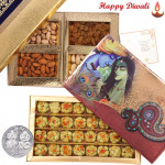 Perfect Diwali Gift - Kaju Sitafal 250 gms, Assorted Dry fruits 200 gms with Laxmi-Ganesha Coin
