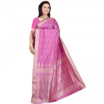 Pink Butter Silk Saree