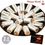 Kaju Anjir Roll with Laxmi-Ganesha Coin