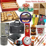Grand Delight - 30 Items (Sweets, Dryfruits, Chocolates, Namkeen, Office Accesories & More - see product page for details)