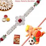 Set of 2 Rakhis - American Diamond with Kids Rakhis