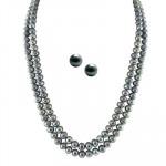 2 String Grey Pearl Set