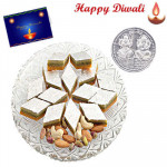 Sandwich Katli with Laxmi-Ganesha Coin