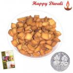 Shakkarpara - Shakkarpara 250 gms with Laxmi-Ganesha Coin