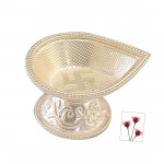 Drop Shape Silver Diya
