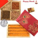 So Sweet - Kaju Kesar Katli 250 gms, Assorted Dry fruits 200 gms with Laxmi-Ganesha Coin