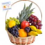 Special Fruit Basket - Mix Fruit Basket 4 Kg and Card