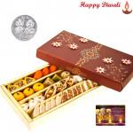 Special Kaju Mix - Special Kaju Mix Mithai 500 gms with Laxmi-Ganesha Coin