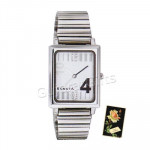 Sonata Watch White Dial Silver Strap