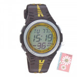 Sonata Digital Watch Black & Yellow Strap
