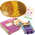 Sweet Tooth - Soan Papdi, Assorted Dryfruits Basket, 5 Assorted Bars