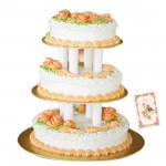 Three Tier Butter Scotch Cake 3 Kg + Card