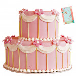 Two Tier Strawberry Cake 3 Kg + Card