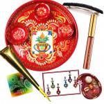 Wishes for Her - Meenakari Thali, Lakme Jewel Sindoor, Bindi Packet, Mehndi Cone, Hair Clip, Roli Chawal and Card