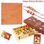 Tremendous Delight - Sri Vyapar Vriddhi Yantra + Kaju Mix 500 gms with 2 Rakhi and Roli-Chawal