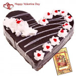Cake Time - Black Forest Heart 1 Kg + Card