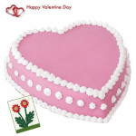 Pink and Sweet - Strawberry Heart 1 Kg + Card