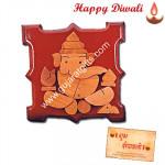 Ganesha Wooden Slab