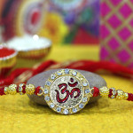 Traditional OM Diamond Rakhi