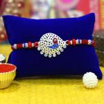 Glittering Shivling Silver Rakhi