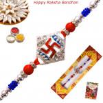 Traditional Swastik & Beads Rakhi