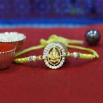 Ganpati Diamond Pearl Rakhi
