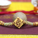 Delicate OM with Diamonds Rakhi