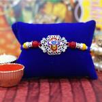 Auspicious Shreenathji Diamond Rakhi
