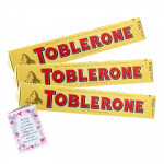 3 Toblerone 60 gms each and Card