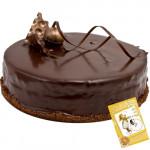 Choco Fun - Chocolate Cake 1/2 Kg + Card