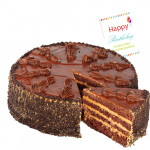 Fun with Delicacy - Chocolate Cake 1 Kg + Card