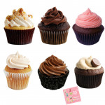 Flavored Treat - 6 Assorted Cupcakes and Card