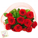 Love for Life - 12 Red Roses + Card