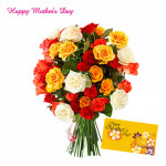 Assorted Exotic Flowers - 30 Assorted Flowers Bouquet and Card