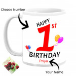 Personalized Birthday Mug (Name, Number, Photo) & Card