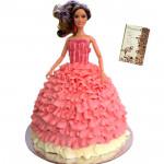 Fancy Doll Cake 2 Kg & Card