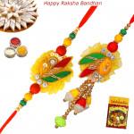 Elegant Pearls & Zardosi Bhaiya Bhabhi Rakhi Pair