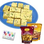 Haldiram Special - Soan Papdi 250 Gms, Haldiram Namkeen 2 Packs