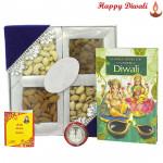 Dooj Assortment - Assorted Dry Fruits with Bhaidooj Tikka and Laxmi-Ganesha Coin