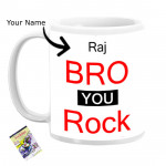 Bro You Rock Personalized Mug & Card