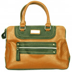 Brown & Green Handbag (10 inch by 14inch)