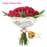 Bunch of Red Roses - Bunch of 30 Red Roses and Card