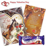 Being With You - Valentine Musical Greeting Card + Dairy Milk Fruit & Nut 40 gms