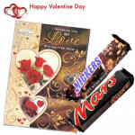 Just For You - Valentine Musical Greeting Card + Snickers & Mars Chocolates