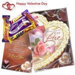 Love You - Valentine Musical Greeting Card + 5 Assorted Chocolates