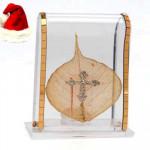 Acrylic Golden Leaf Cross