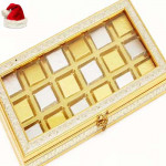 Christmas Gifts Chocolates -Silver Gold 18 pcs Chocolate Box