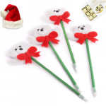 Set of 4 Snow Teddy Pens