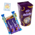 Cadbury Hamper - Cadbury Eclairs + 5 Assorted Bars & Card