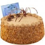 Butter Scotch Cake 1.5 Kg + Card